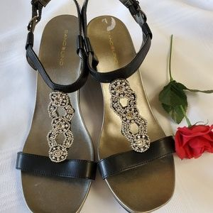 Beaded Heeled Sandal